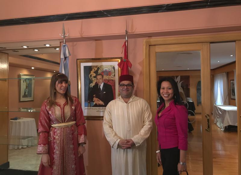 DIA NAC. MARRUECOS, Embajador, S.E. Fouad Yazourh y cónyuge