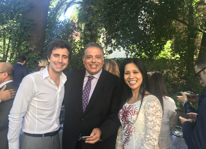 Embajador de Egipto, S.E. Amin Mourad MELEIKA