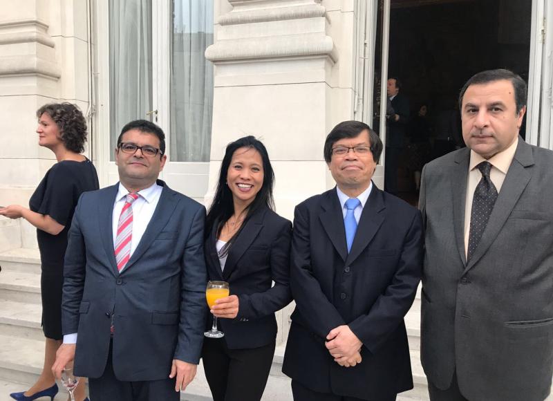 Embajadores de Marruecos, Indonesia y Arabia Saudita en Embajada de Brasil septiembre de 2017
